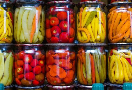 Conservas de alimentos vegetales